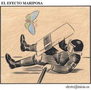 """""""El efecto mariposa"""" de El Roto"""
